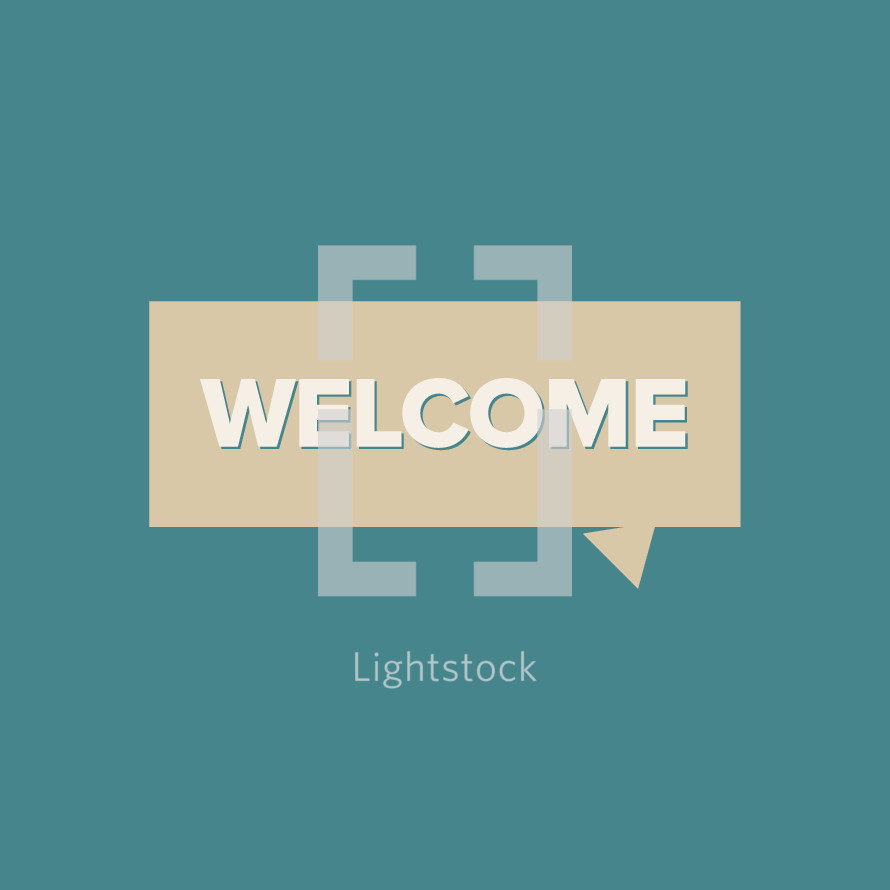welcome badge vector title.