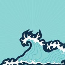 waves in the ocean illustration