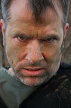 Frowning man.