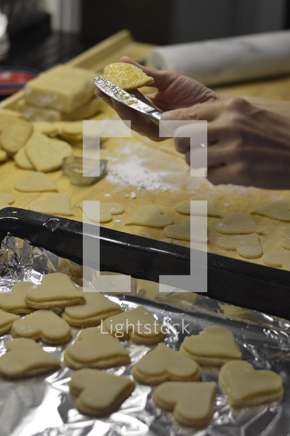 baking buttered cookies