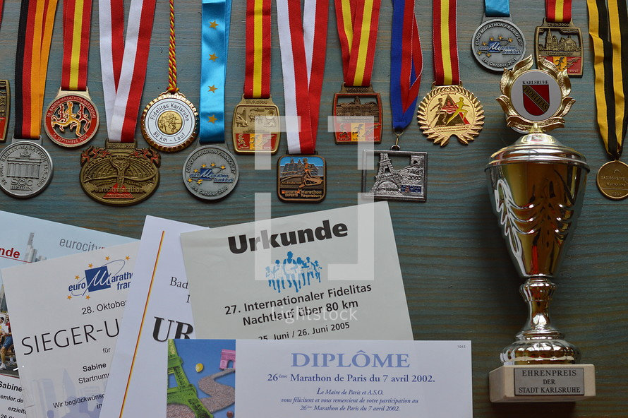 awards, medals, and trophies