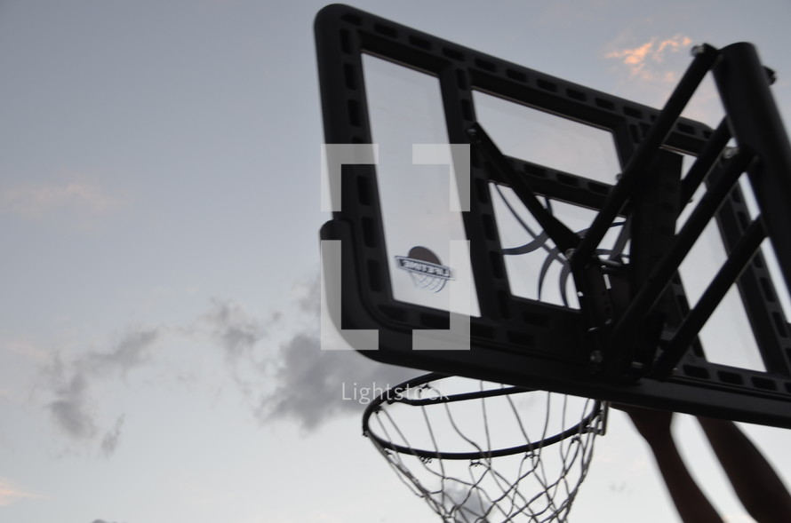 basketball net outdoors