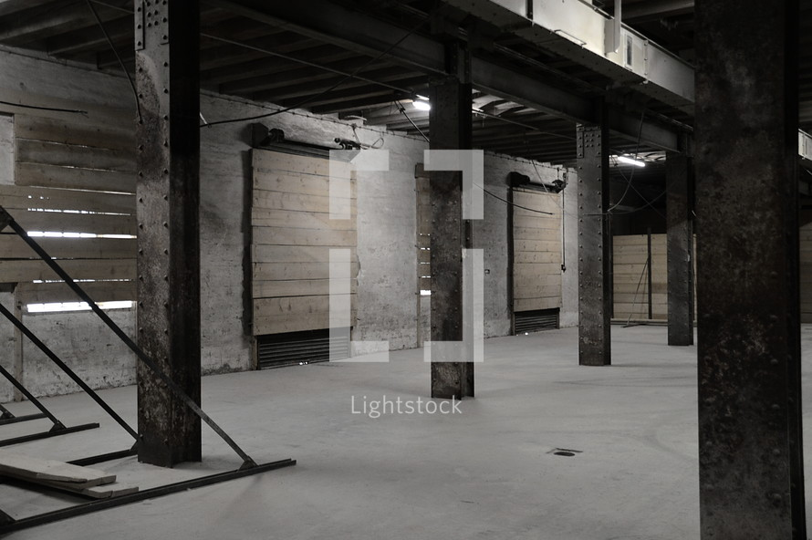 An Empty Storage Space In A Commercial Building Room