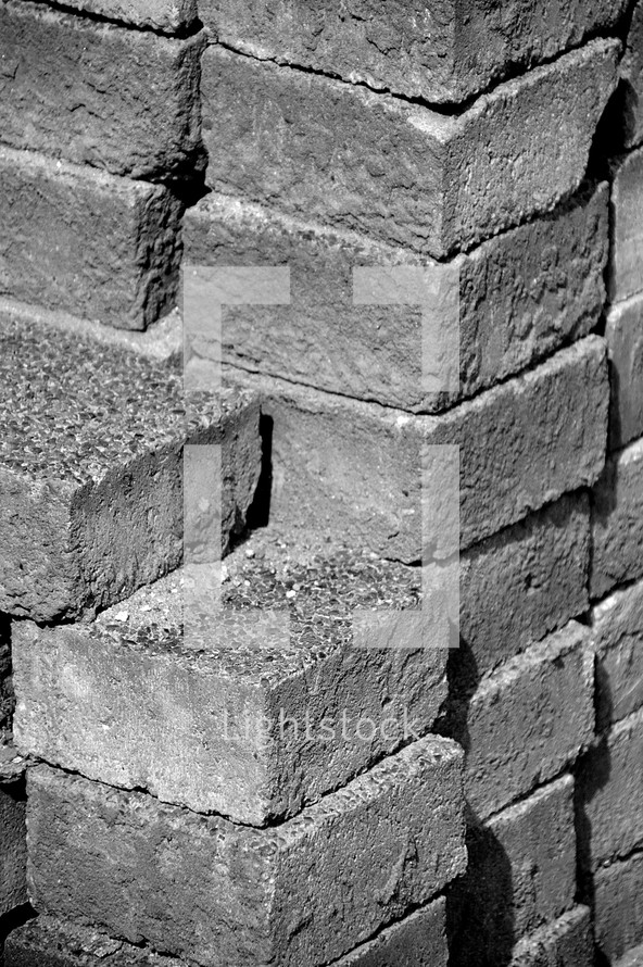 wall out of cobblestone, 