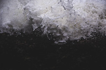 sea foam and rushing water