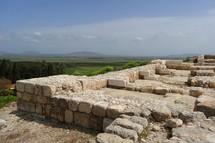 """Ruins of an Israelite palace at Megiddo (""""Armageddon"""")"""