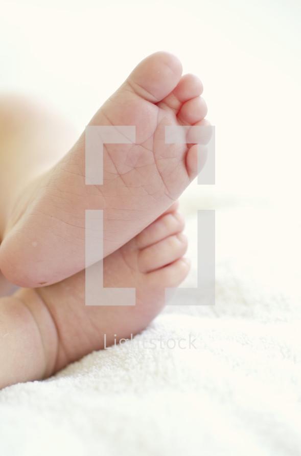 infant feet