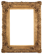 Ornate, gold picture frame