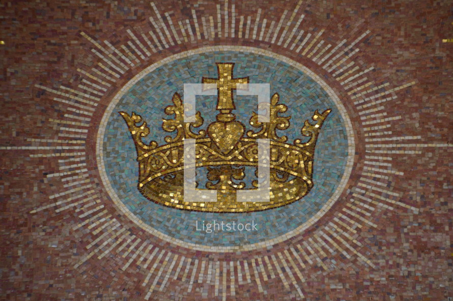 crown tile mosaic