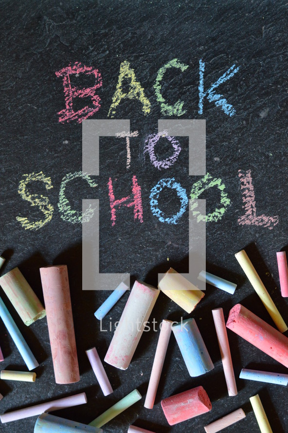 back to school and sidewalk chalk. 