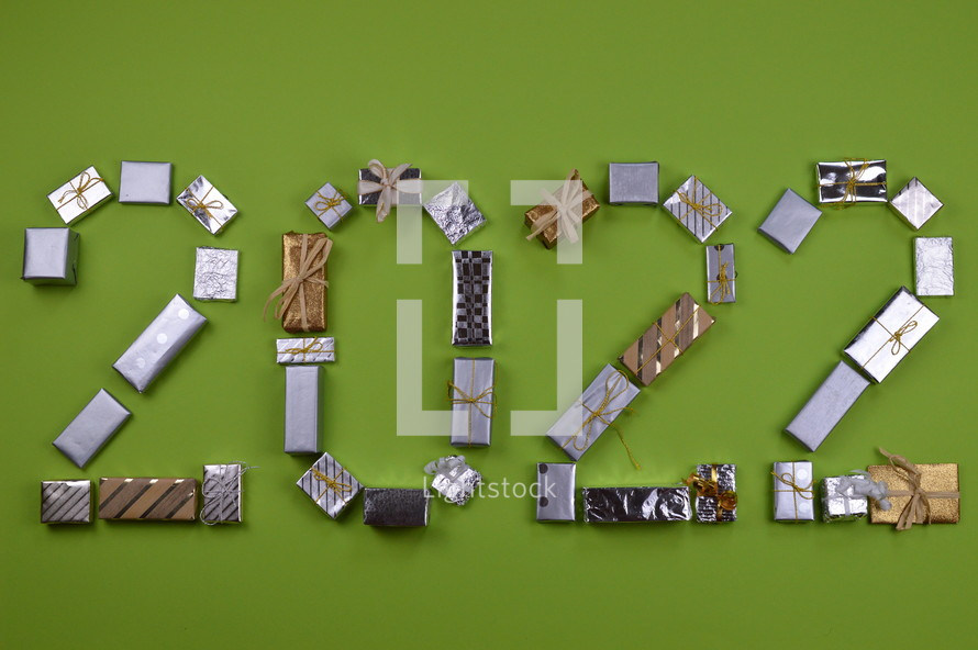 advent gifts in the shape of 2022
