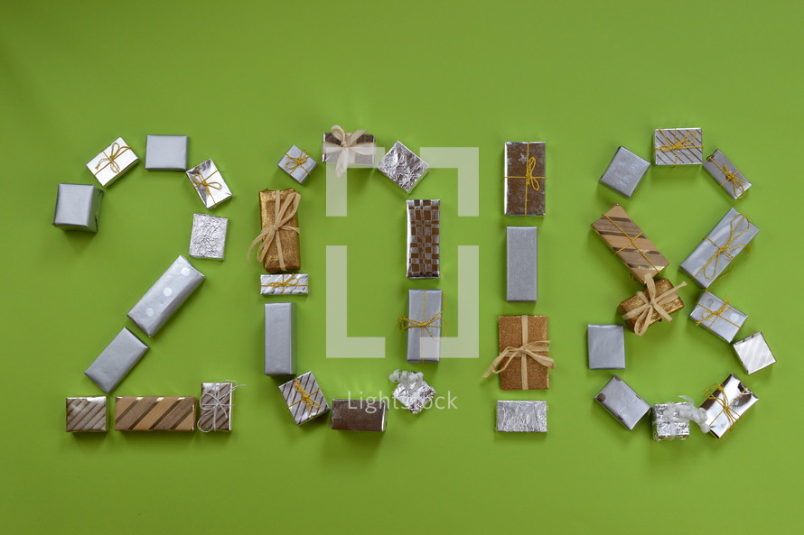 advent gifts in the shape of 2018