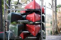 Lakeside canoe rack.
