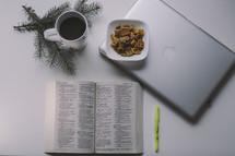 winter Bible study items