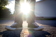 sunburst and converses