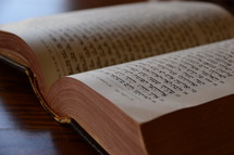 An open Hebrew Bible.