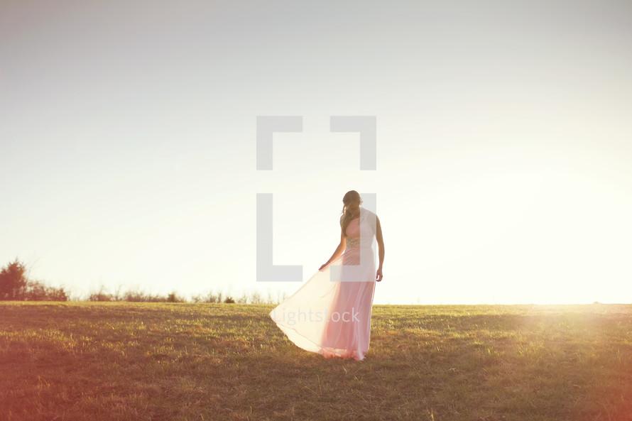 woman in a formal dress