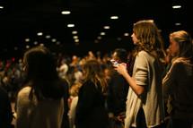teens in worship