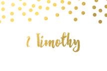 gold dot border, 2 Timothy