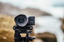 camera on a beach