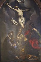 Painting of the crucifixion of Jesus