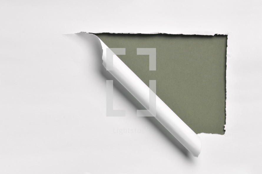 ripped paper olive green