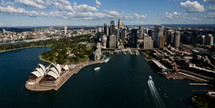 An aerial view of downtown Sydney.
