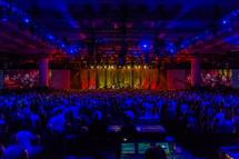 Church concert worship praise lighting stage large crowd