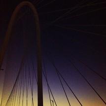 Dallas Margret Hunt Hill bridge at dusk