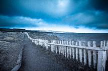 coastal fence line