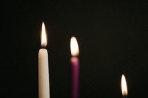 burning candles on an advent wreath