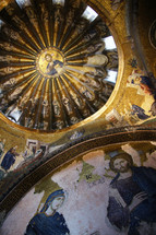 paintings of Jesus on the dome of a church