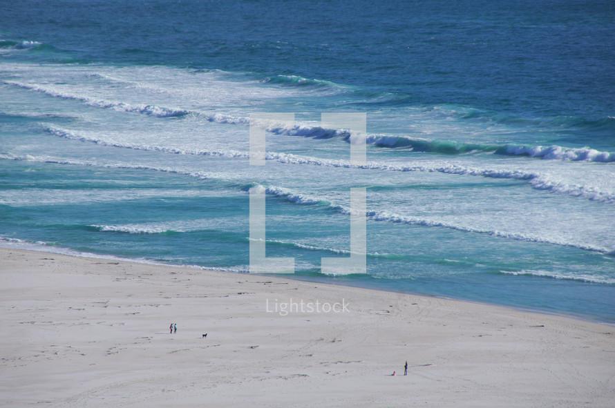 Waves on a distant beach
