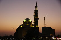 Iraqi Mosque at Sunset