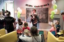 children's church worship service celebrating Jesus's Birthday