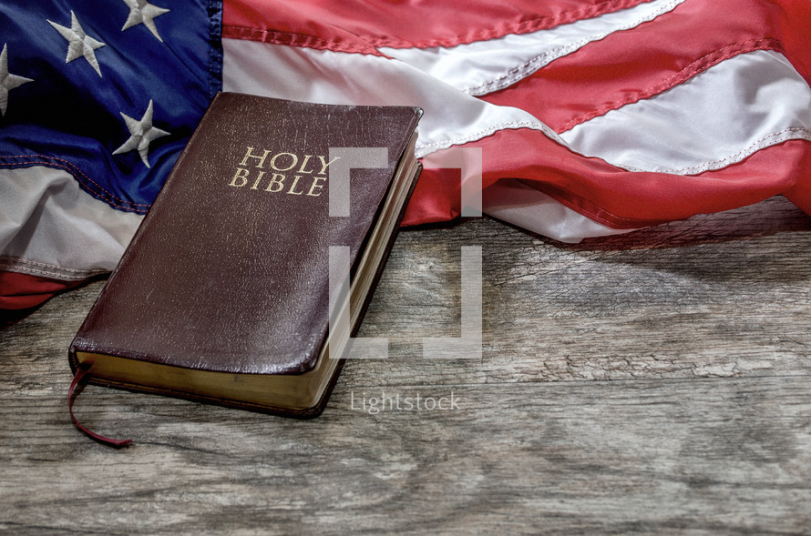 Holy Bible, American flag