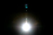 bright lights in darkness