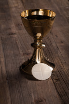 host and chalice at eucharist