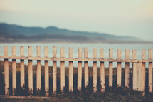 Old Fence Overlooking The Ocean | Summer | Seasons | Fence | Border | Limit