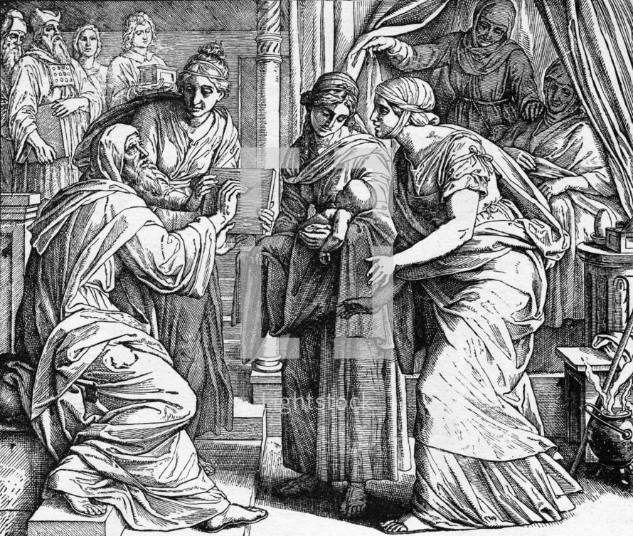 Naming of John the Baptist, Luke 1: 62-64