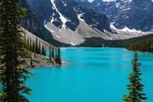 Moraine Lake in Alberta Canada.