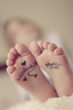 wonderfully made on a child's feet