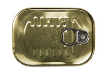 Top of a can of sardines.