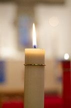 flame on a church candle