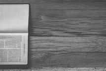 Sideways Bible opened to Genesis
