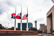 flags flown at half staff