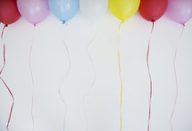 balloons on strings