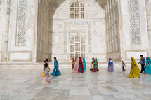 people visiting the Taj Mahal