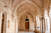 corridor to a church in Israel