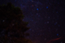 blurry night sky